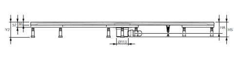 Hüppe EasyFlat Nožičky k vaničce pro 900 x 900 (5 kusů)