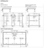 Hüppe Podstavec pro EasyStep a EasyFlat 900 x 900