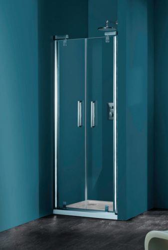 Hüppe Refresh pure 4-úhelník lítací dveře pro niku
