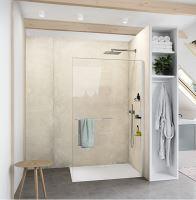 Hüppe Select+ boční stěna samostatně stojící, sklo 10 mm