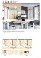 Hüppe Design elegance 4-úhelník posuvné dveře rohový vstup 2-dílný