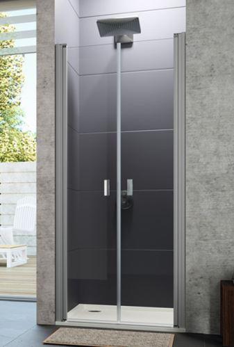 Hüppe Design pure 4-úhelník lítací dveře pro niku