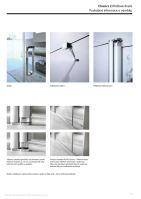 Hüppe Classics 2 4-úhelník křídlové dveře s pevným segmentem pro boční stěnu/rohový vstup