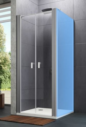 Hüppe Design pure 4-úhelník lítací dveře pro boční stěnu