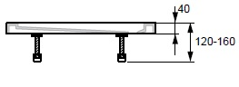 Hüppe Purano Nožičky k vaničce do 1200 mm: 6 nožiček