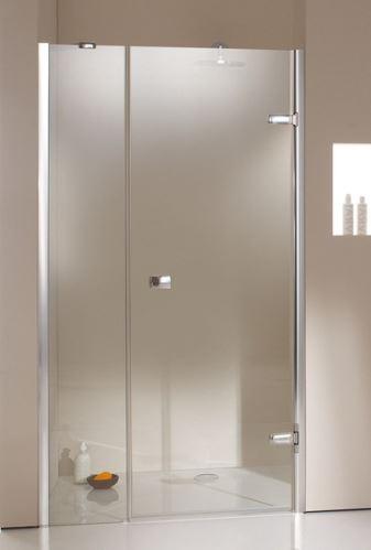 Hüppe Enjoy elegance bezrámový 4-úhelník křídlové dveře s protisegmentem do niky upevnění vpravo