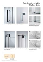 Hüppe Design pure 1/4-kruh 2-křídlové dveře s pevnými segmenty