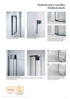 Hüppe Design pure 4-úhelník posuvné dveře 2-dílné s pevnými segmenty
