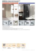 Hüppe Enjoy elegance bezrámový 4-úhelník křídlové dveře s boční stěnou upevnění vlevo