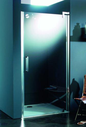 Hüppe Refresh pure 4-úhelník pivotové dveře pro niku