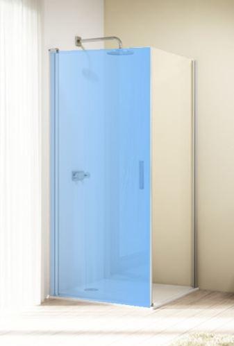 Hüppe Design elegance 4-úhelník boční stěna pro křídlové dveře přímo na podlahu