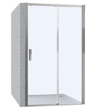 Hüppe Trend Easy 4-úhelník posuvné dveře 1-dílné s pevným segmentem upevnění vpravo