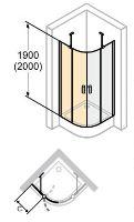 Hüppe Design pure 1/4-kruh křídlové dveře