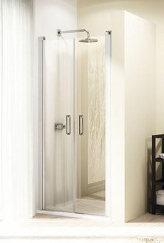 Hüppe Design elegance 4-úhelník lítací dveře pro niku