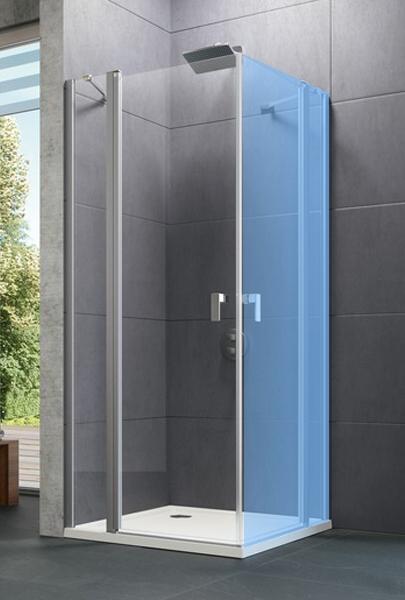 Hüppe Design pure 4-úhelník křídlové dveře s pevným segmentem