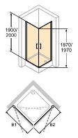Hüppe Classics 2 4-úhelník křídlové dveře rohový vstup