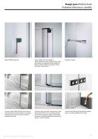 Hüppe Design pure 1/4-kruh u-kabina křídlové dveře