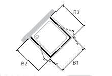 Hüppe Design pure 4-úhelník dvoje křídlové sklapovací dveře s pevným segmentem jako u-kabina