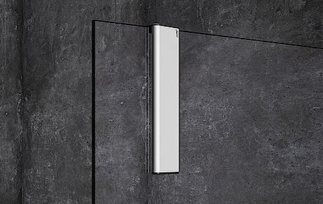 Hüppe Select+ Wiper - stěrka, stříbrná matná