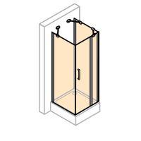 Hüppe Design pure 4-úhelník u-kabina křídlové dveře s pevným segmentem
