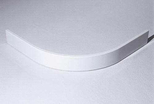 Hüppe Purano kryt sprchové vaničky 1/4-kruh barva krytu: bílá