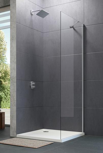 Hüppe Design pure 4-úhelník boční stěna pro křídlové dveře