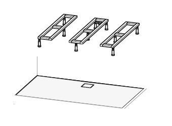 Hüppe Nastavitelný podstavec pro EasyStep 800-1800 x 700-1000