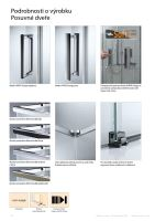 Hüppe Design pure 1/4-kruh u-kabina křídlové dveře 1 zkrácená boční stěna