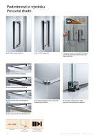 Hüppe Design pure 4-úhelník křídlové sklapovací dveře s pevným segmentem upevnění vpravo