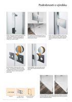 Hüppe Solva pure s nástěnnou lištou 4-úhelník boční stěna pro křídlové dveře