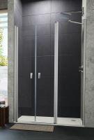Hüppe Design pure 4-úhelník lítací dveře s protisegmentem do niky