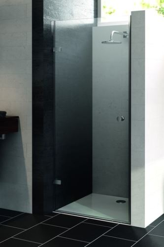 Hüppe Enjoy pure bezrámový 4-úhelník křídlové dveře pro niku upevnění vlevo