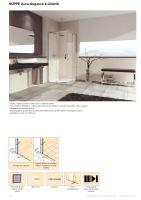 Hüppe Aura elegance 4-úhelník posuvné dveře rohový vstup 2-dílný