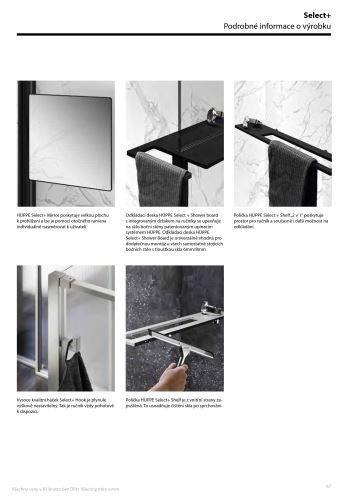 Hüppe Select+ Tablet - designová polička