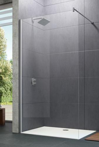 Hüppe Design pure 4-úhelník boční stěna samostatně stojící