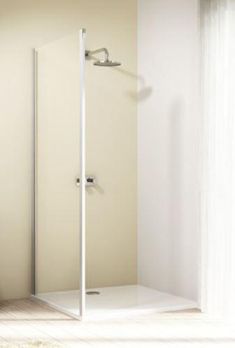 Hüppe Design elegance 4-úhelník boční stěna pro posuvné dveře 1-dílné s pevným segmentem upevnění vlevo