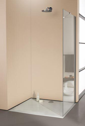 Hüppe Enjoy elegance bezrámový 4-úhelník boční stěna samostatně stojící upevnění vpravo