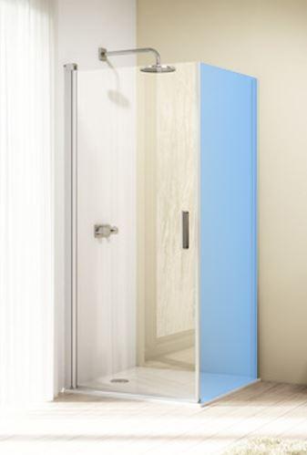 Hüppe Design elegance 4-úhelník křídlové dveře s otevíráním dovnitř/ven pro kombinaci s boční stěnou
