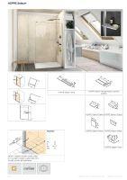 Hüppe Select+ boční stěna samostatně stojící, sklo 8 mm