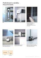 Hüppe Classics 2 EasyEntry Black Edition 4-úhelník boční stěna pro posuvné dveře
