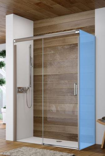 Hüppe Design elegance 4-úhelník posuvné dveře 1-dílné s pevným segmentem upevnění vlevo