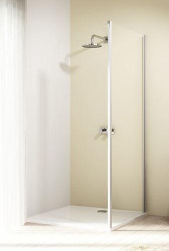 Hüppe Design elegance 4-úhelník boční stěna pro posuvné dveře 1-dílné s pevným segmentem upevnění vpravo