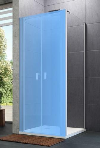 Hüppe Design pure 4-úhelník boční stěna pro lítací dveře