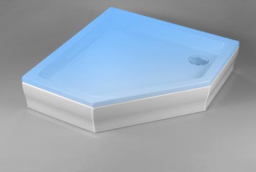 Hüppe Purano kryt sprchové vaničky 5-úhelník barva krytu: bílá
