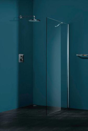 Hüppe Refresh pure 4-úhelník boční stěna pro křídlové/pivotové dveře