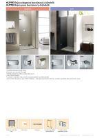 Hüppe Enjoy elegance bezrámový 4-úhelník křídlové dveře pro niku upevnění vpravo