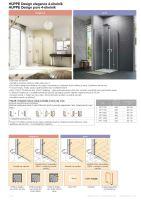 Hüppe Design pure 4-úhelník křídlové sklapovací dveře upevnění vpravo