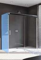 Hüppe Design pure 4-úhelník posuvné dveře 1-dílné s pevným segmentem upevnění vpravo