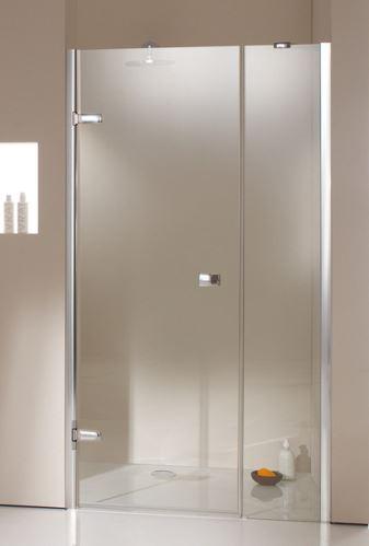 Hüppe Enjoy elegance bezrámový 4-úhelník křídlové dveře s protisegmentem do niky upevnění vlevo