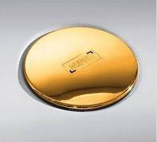 Hüppe EasyStep Sifon se zlatou krytkou a se stavební výškou 90mm a s průtokem až 0,8l/s. Výška zápachové uzávěry 50mm